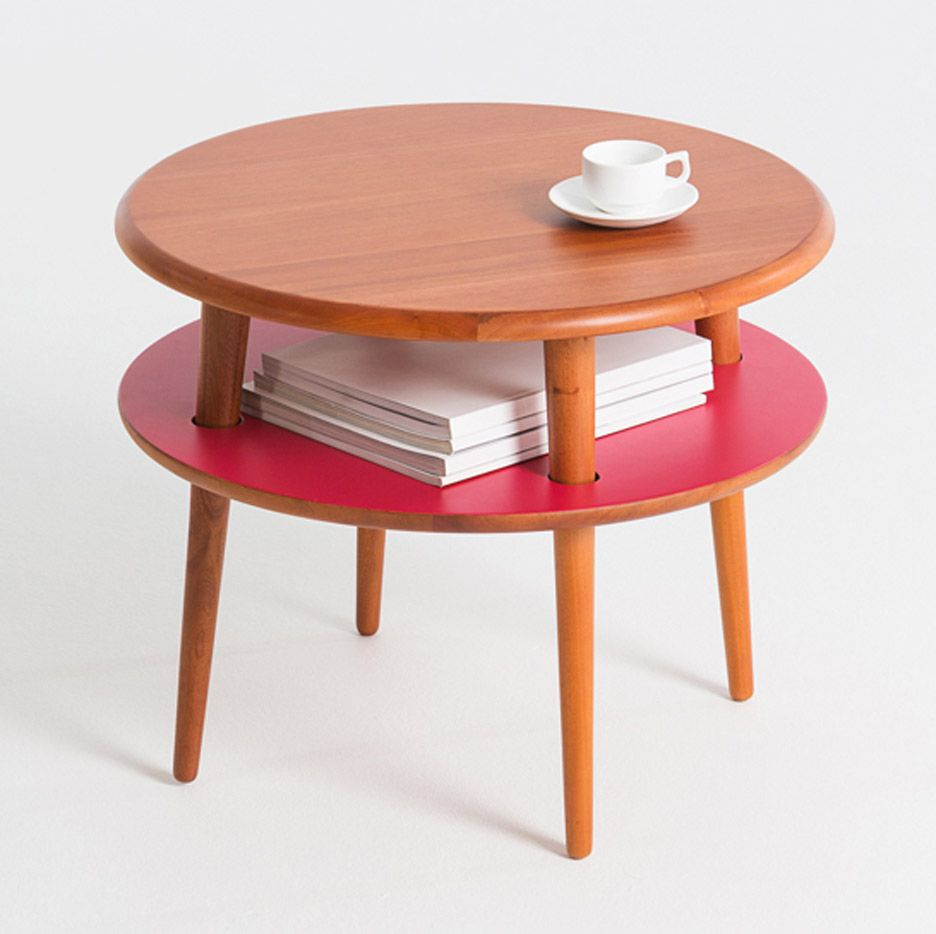 Lanzavecchia Wai S Playplay Collection Includes Tables That Stack Like Hamburgers Table Coffee Table Quirky Furniture [ 934 x 936 Pixel ]