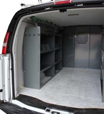 913115a65f Cargo Van Shelving Storage System for All Makes  amp  Models Full Size Vans