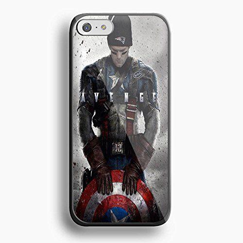 New England Patriots Tom Brady Captain America For Iphone 6 Black