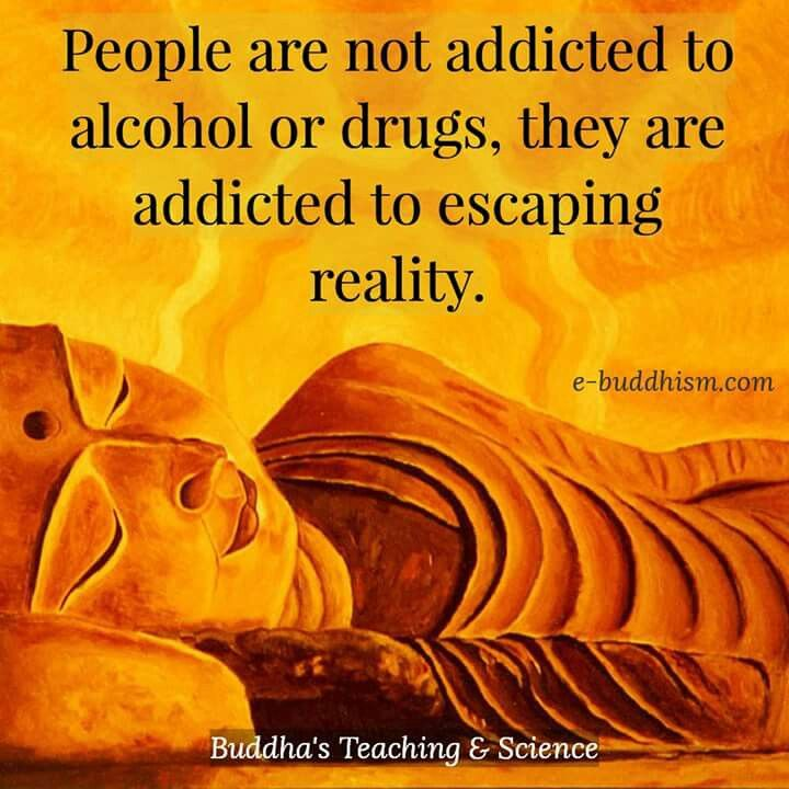 People Are Addicted To Escaping Reality Buddhist Quotes Buddhism Quote Buddha Quote