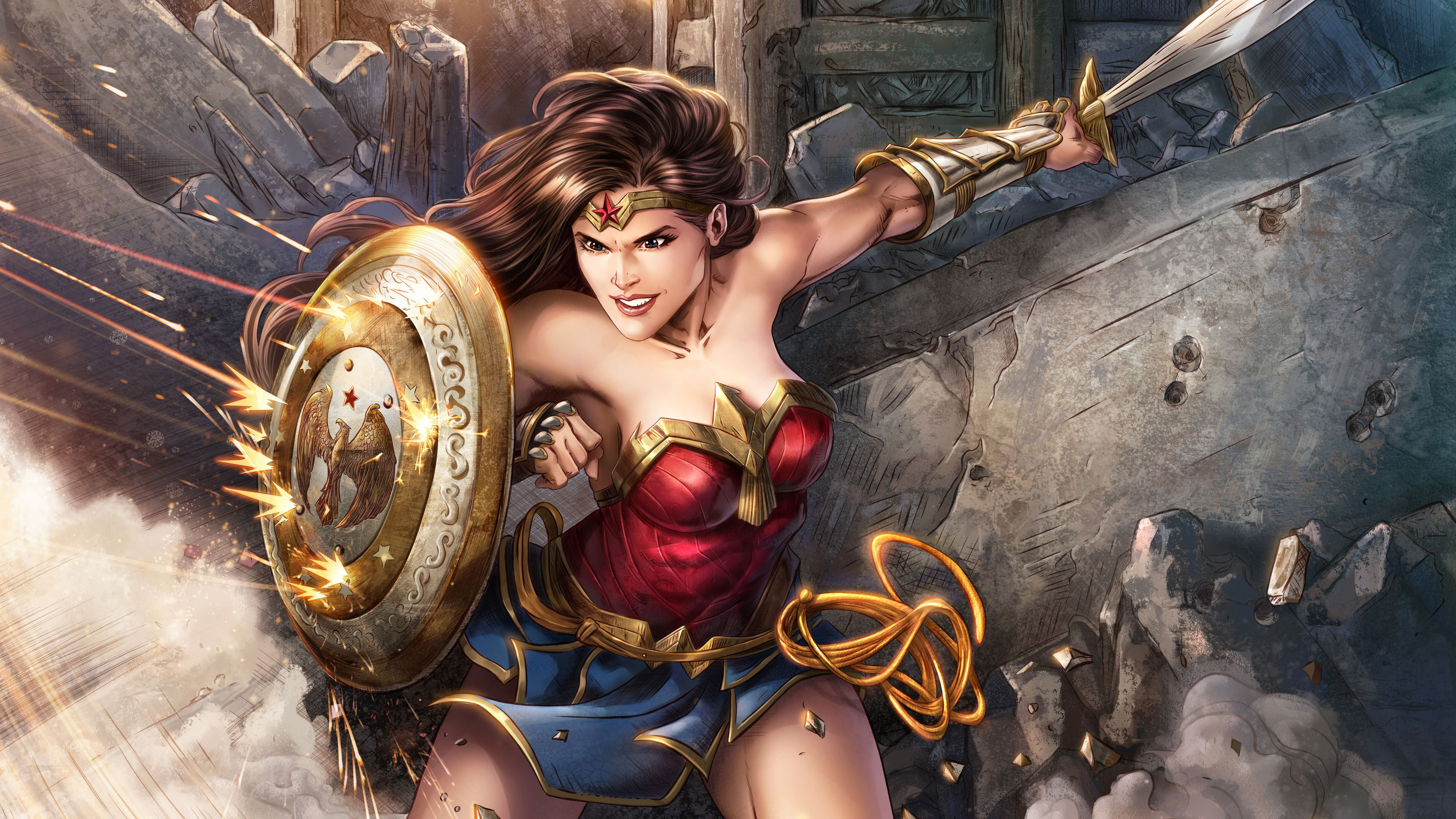 Wonder Woman 5k Digital Artwork Wonder Woman Wallpapers Superheroes Wallpapers Hd Wallpapers Digital Art Wallpapers Digital Artwork Wonder Woman Superhero