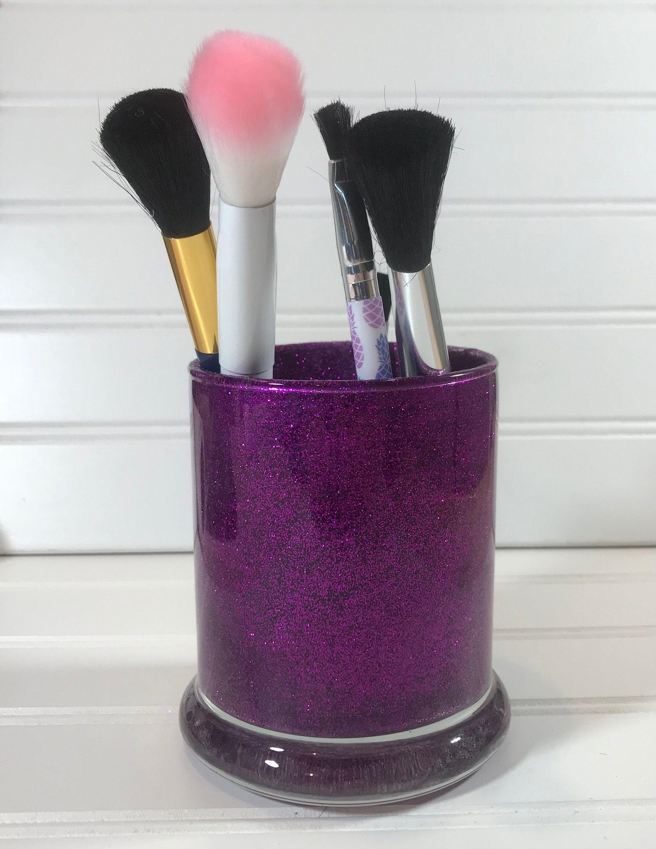 Glitter Brush Holder Make Up Brush Holder Personalized