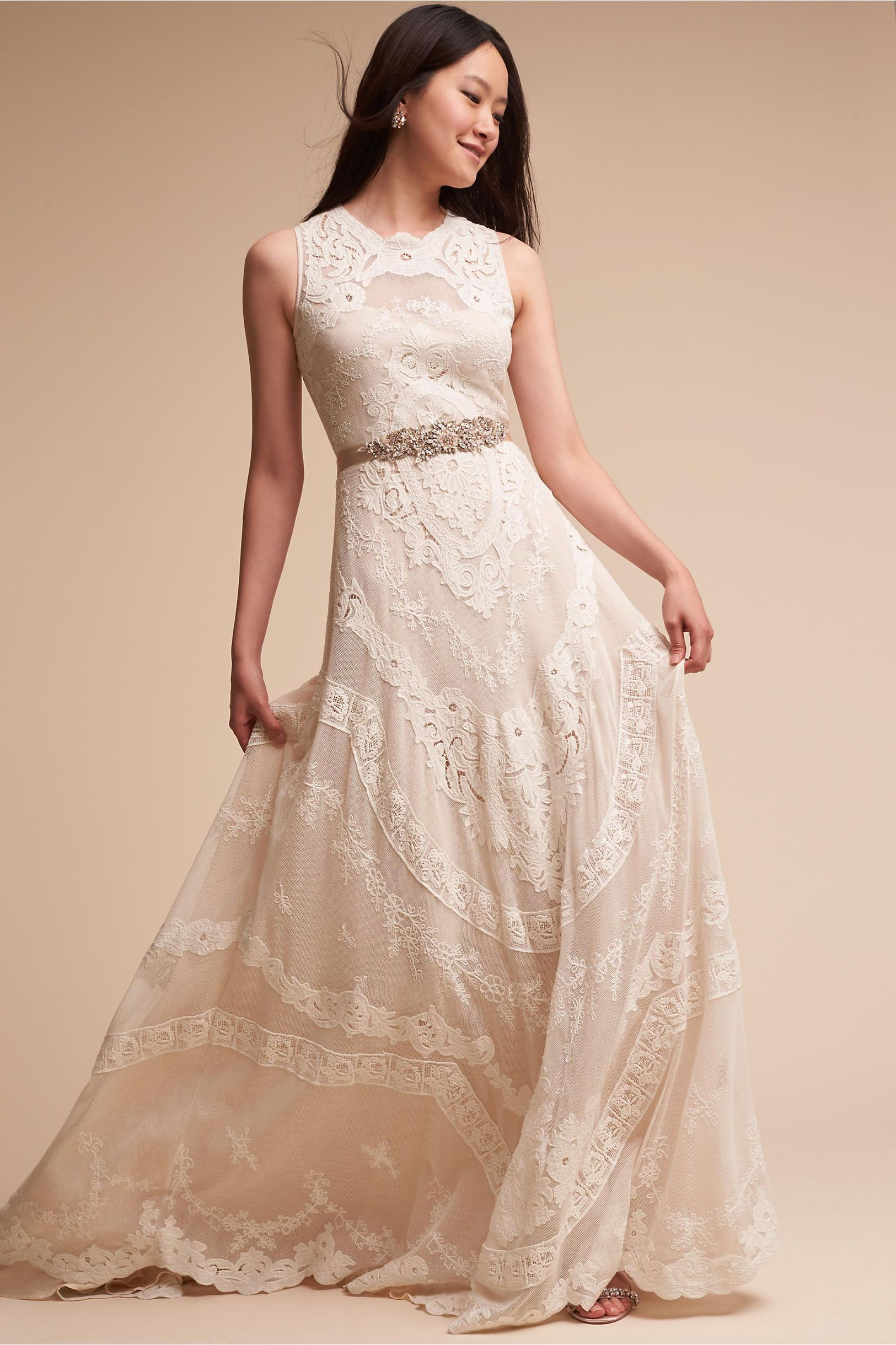 BHLDN\'s Lotus Threads Contra Gown in Champagne | Products ...