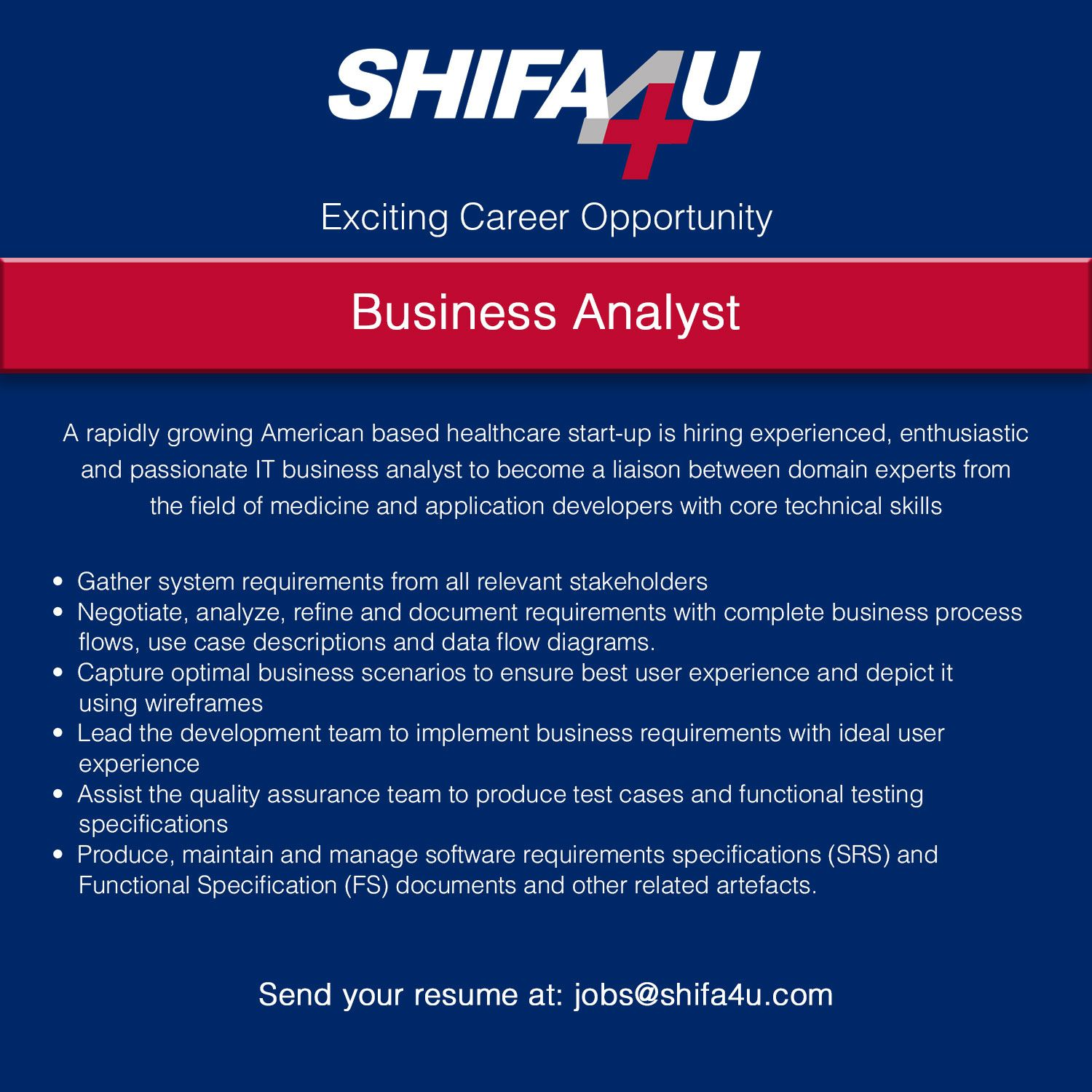 Job Alert Business Analyst Required in Lahore! Apply at