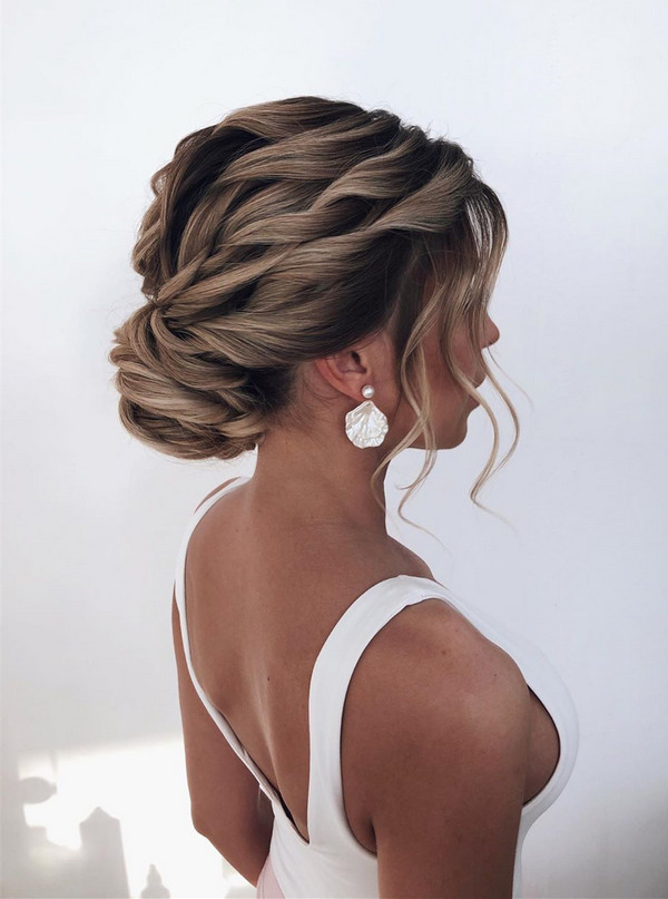 20 Classic Updo Wedding Hairstyles from Oksana on Instagram - Oh Best Day Ever