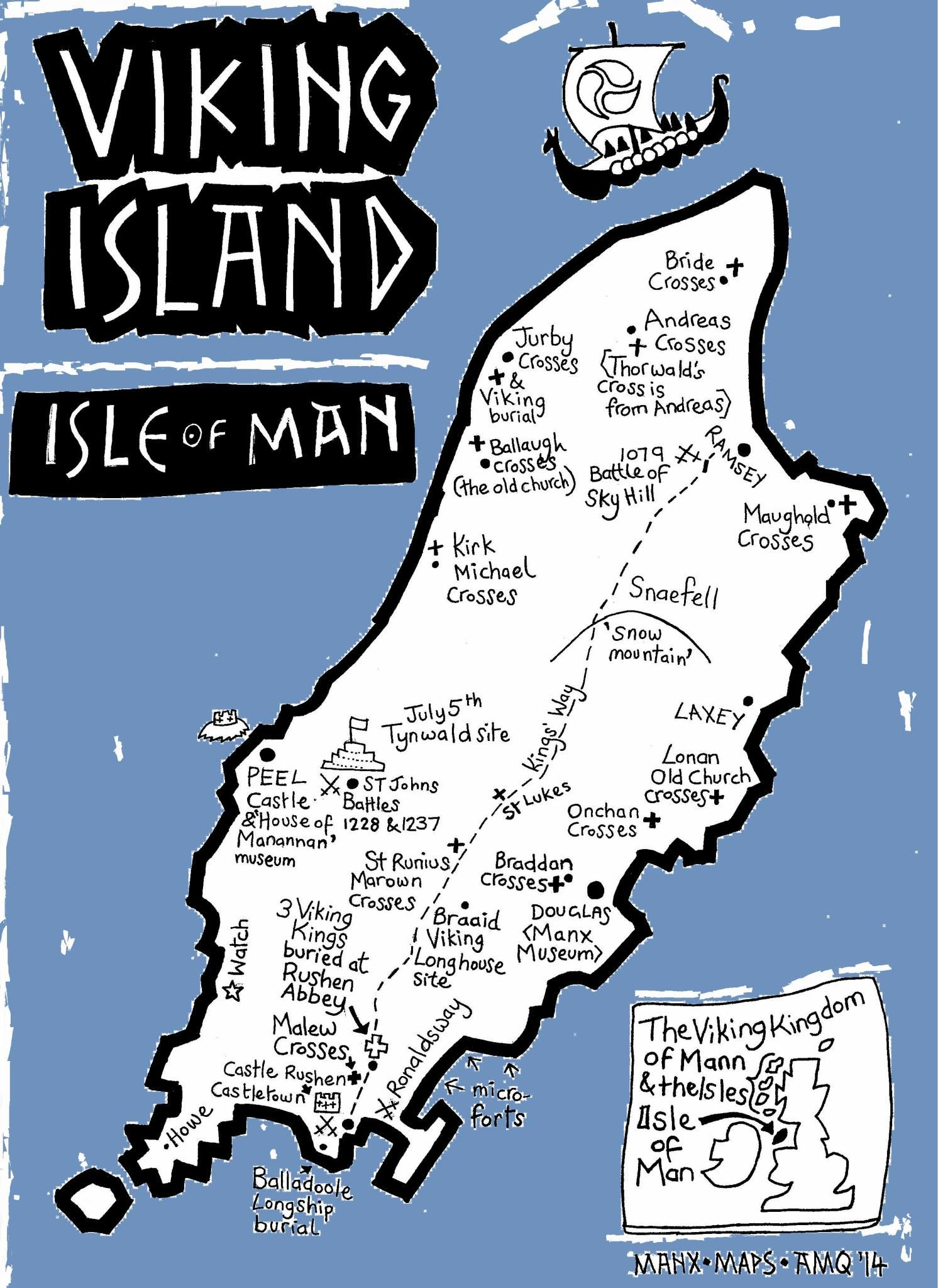 Map Showing Where The Isle Of Man Is The Isle Of Man Is An Island - Isle of man map