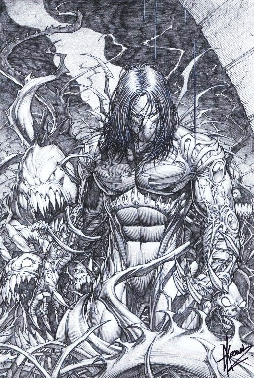 Darkness #3 cover art by Dale Keown! (Image/Top Cow comics)
