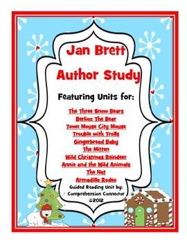 Jan Brett Author Study Bundle Educational Finds And