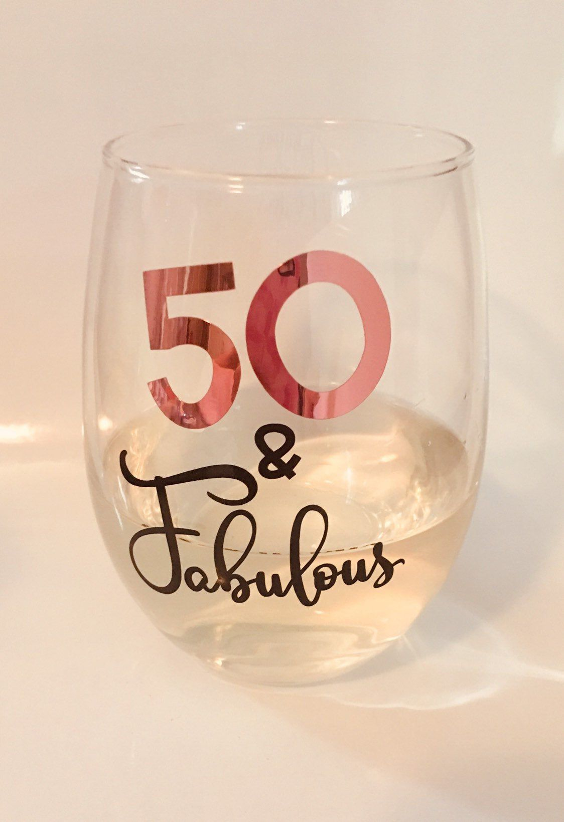 Fifty and Fabulous Wine Glass, 50 and Fabulous Wine Glass, 50th Birthday Gift, 50th Birthday Wine Glass, acrylic wine tumbler #moms50thbirthday