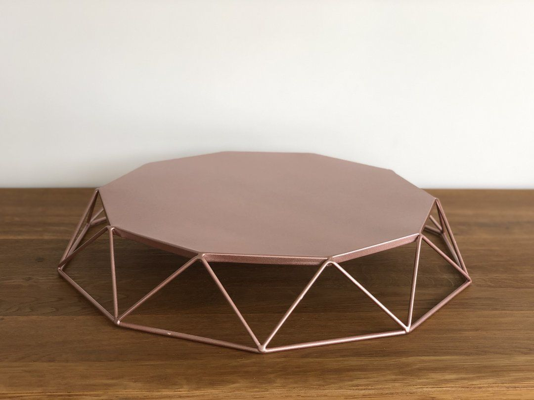 Geometric cake stand 12 diameter with images