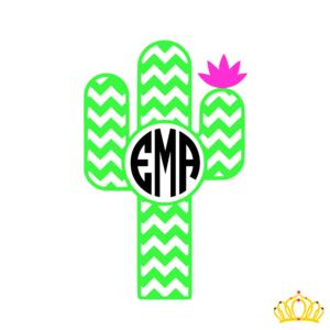 Download Chevron Cactus with Monogram Decal | Monogram decal ...