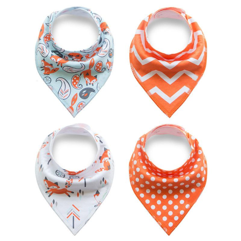 Newbron Kids Baby Feeding Saliva Towel Dribble Cotton Triangle Bandana Bibs SU