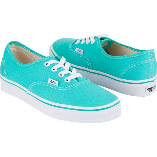 Vans Authentic Mint Ombre Shoes | Turquoise, Red green and The van