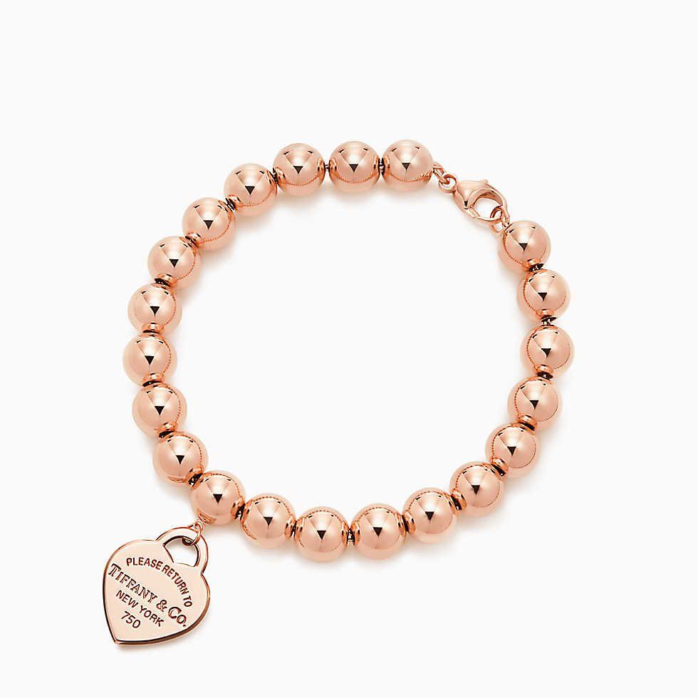 l'ultimo 71712 40a88 Piastrina a cuore Return to Tiffany® piccolo in oro rosa 18k ...