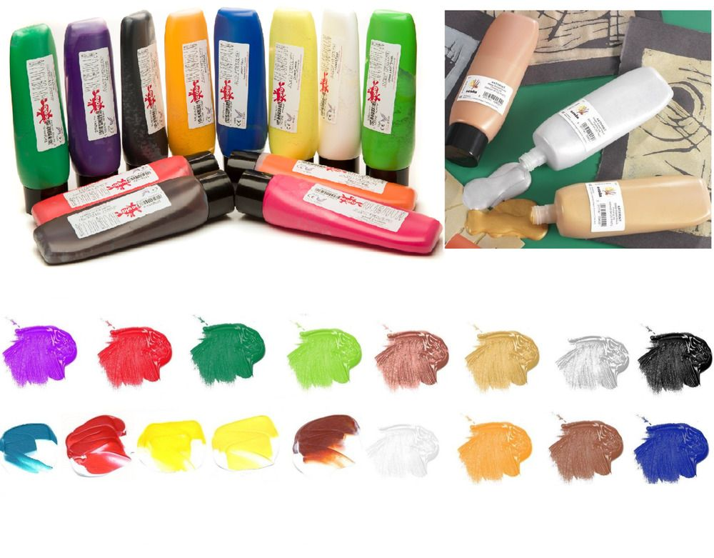 PROFESSIONAL LINO BLOCK PRINTING INK/PAINT. Top Craft Categories Coloured Card and Paper Fabric Paint Gift Kits Paint by Numbers Pottery Tools Sticker Books VIEW ALL. 300ml B OTT LE S & CHOICE OF 17 COLOURS.   eBay! http://www.ebay.co.uk/itm/SCOLA-ARTPRINT-300ml-BOTTLES-LINO-BLOCK-PRINTING-ROLLER-MIXABLE-INKS-PAINTS/400440990615?rt=nc