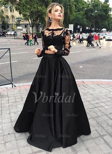 a0398c332de Prom Dresses -  201.99 - Ball-Gown Scoop Neck Floor-Length Satin Prom Dress  With Ruffle Appliques Lace (0185096776)