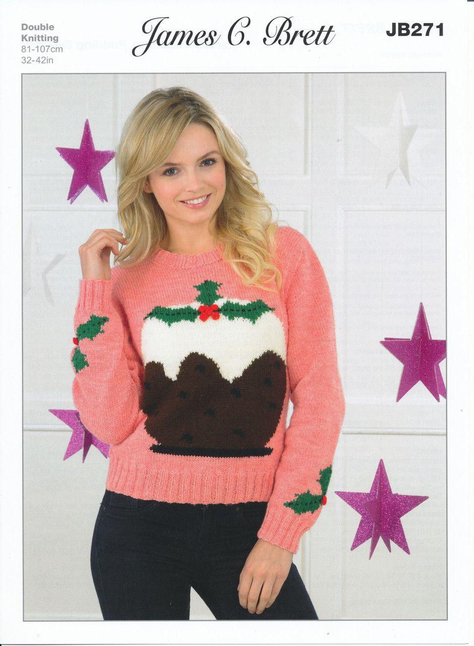 James brett double knitting pattern jb271 ladies christmas pudding james brett double knitting pattern jb271 ladies christmas pudding sweater dt1010fo
