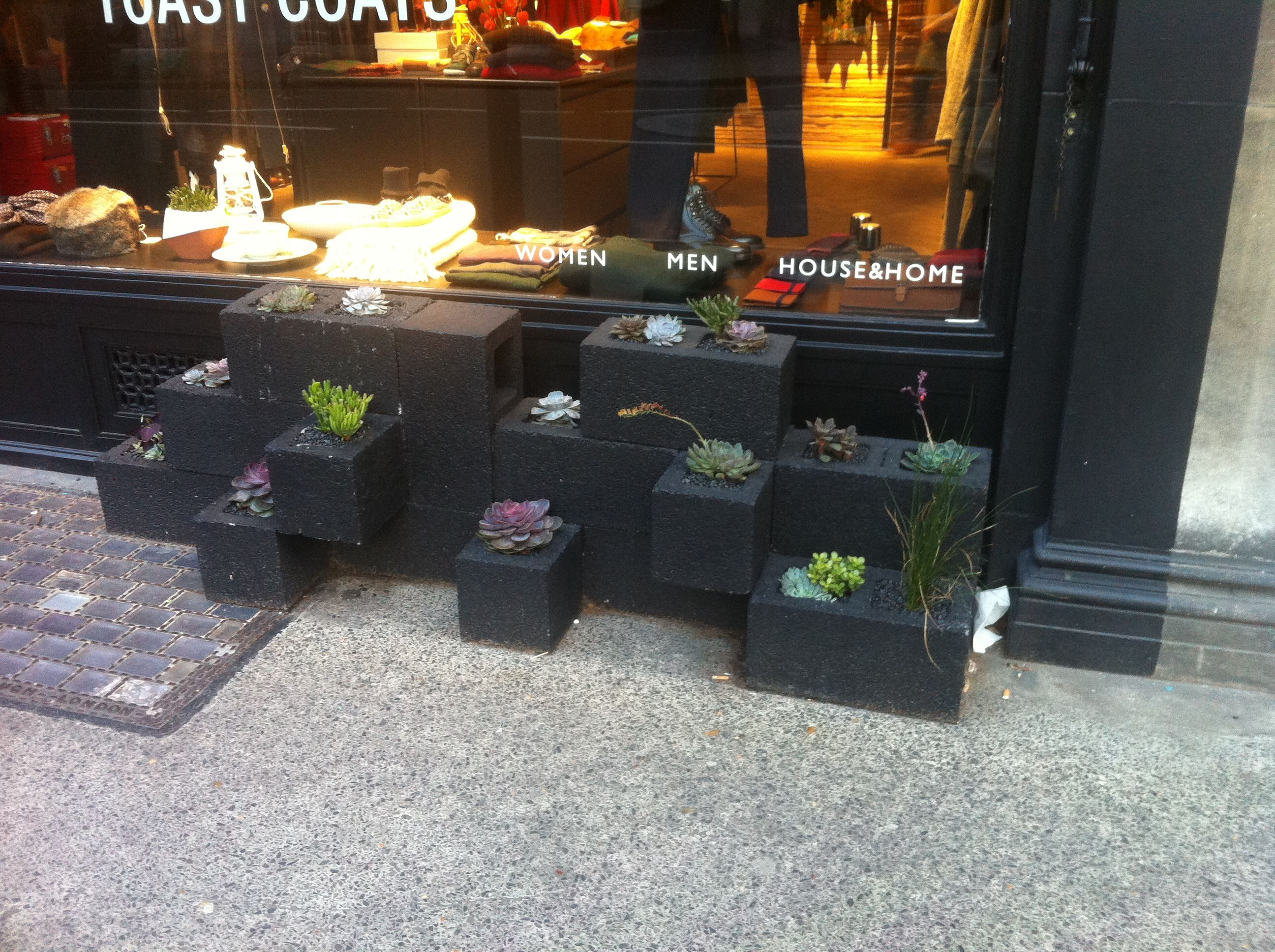planters done with brickwall