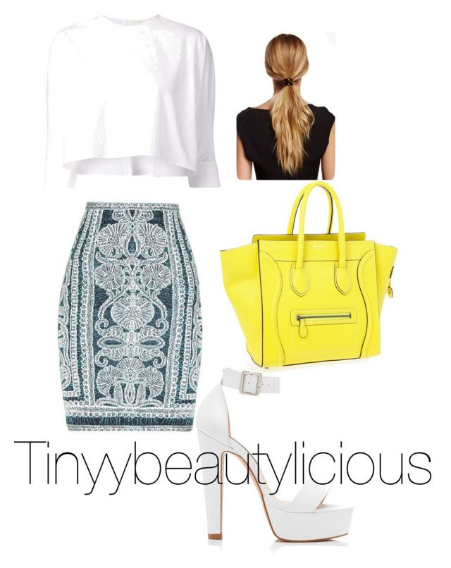 """""""Untitled #44"""" by tinyybeautylicious on Polyvore featuring Hervé Léger, Delpozo, Forever New and Natasha Accessories"""