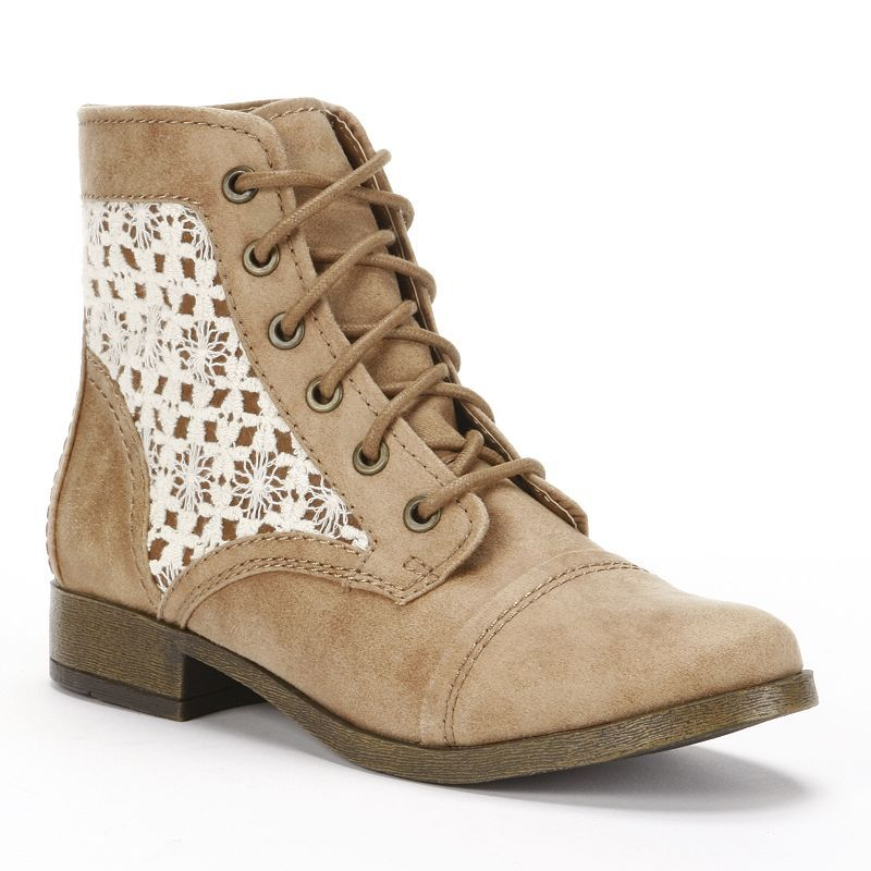 Cute for Liv's summer outfits. Candie's Lace-Up Ankle Boots ...