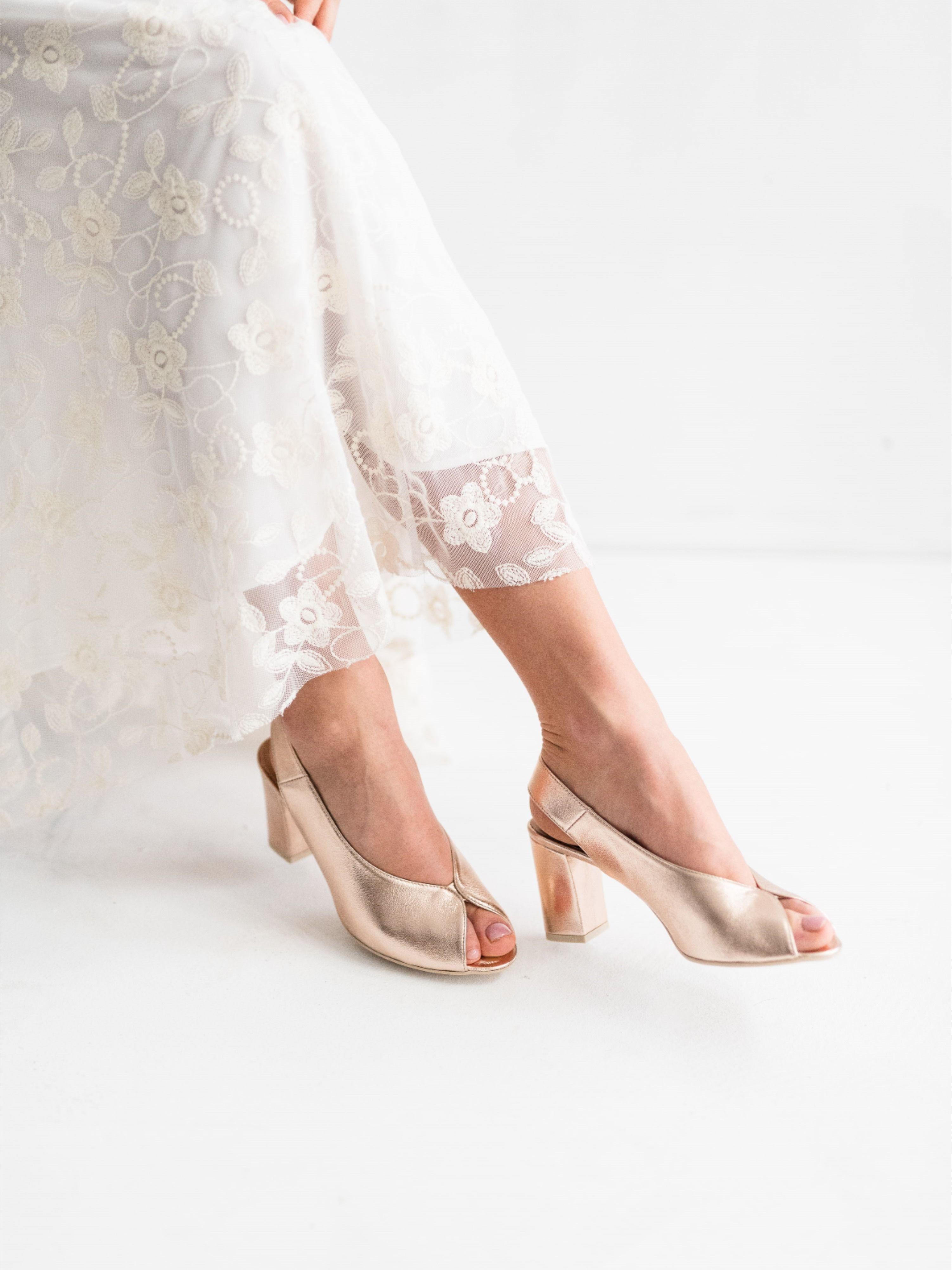 Buty Slubne Szyte Na Miare Wedding Shoe Heeled Mules Shoes