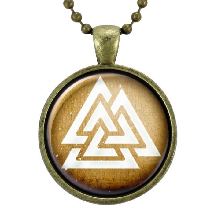 Odin Valknut Pendant Necklace Viking Symbols Pendants