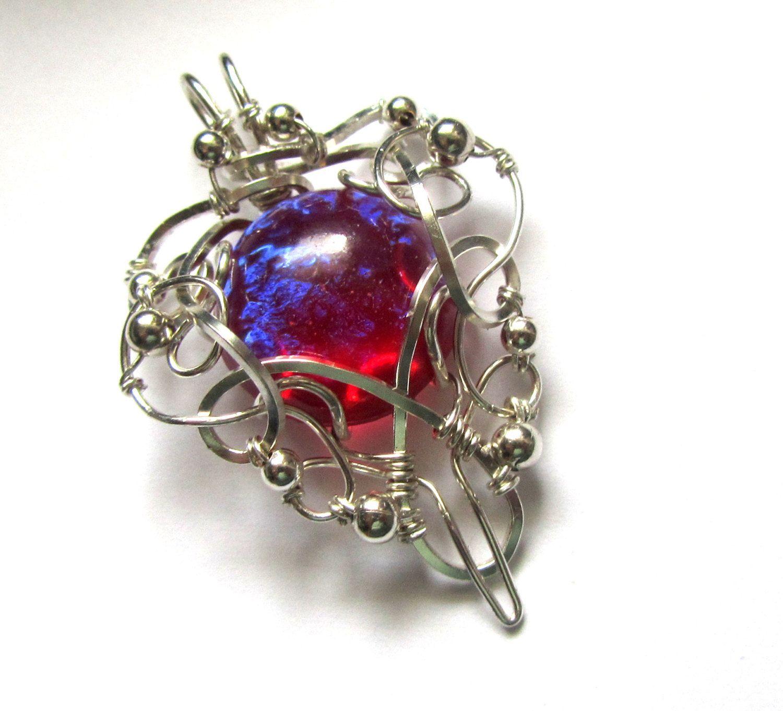 Dragon S Breath Fire Opal Pendant Silver Wire Wrapped