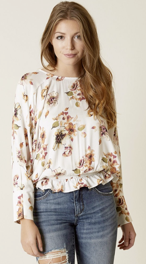 2410928dc6867 Floral Tops with Jeans   Mustard Seed Floral Top
