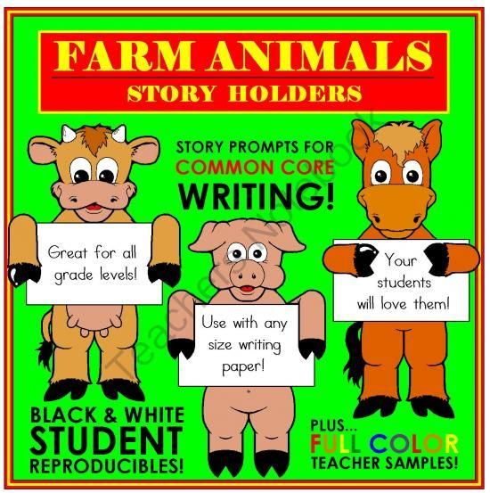 Nine super cute farm animals make writing fun! Simply add lined - lined paper for writing
