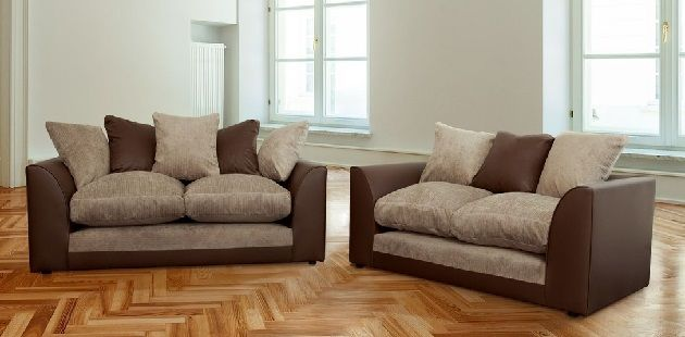 Mixing Leather And Fabric Sofas With