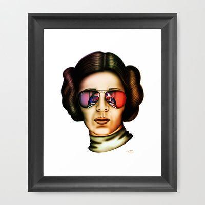 STAR WARS Princess Leia  Framed Art Print by Tom Brodie-Browne - $31.00