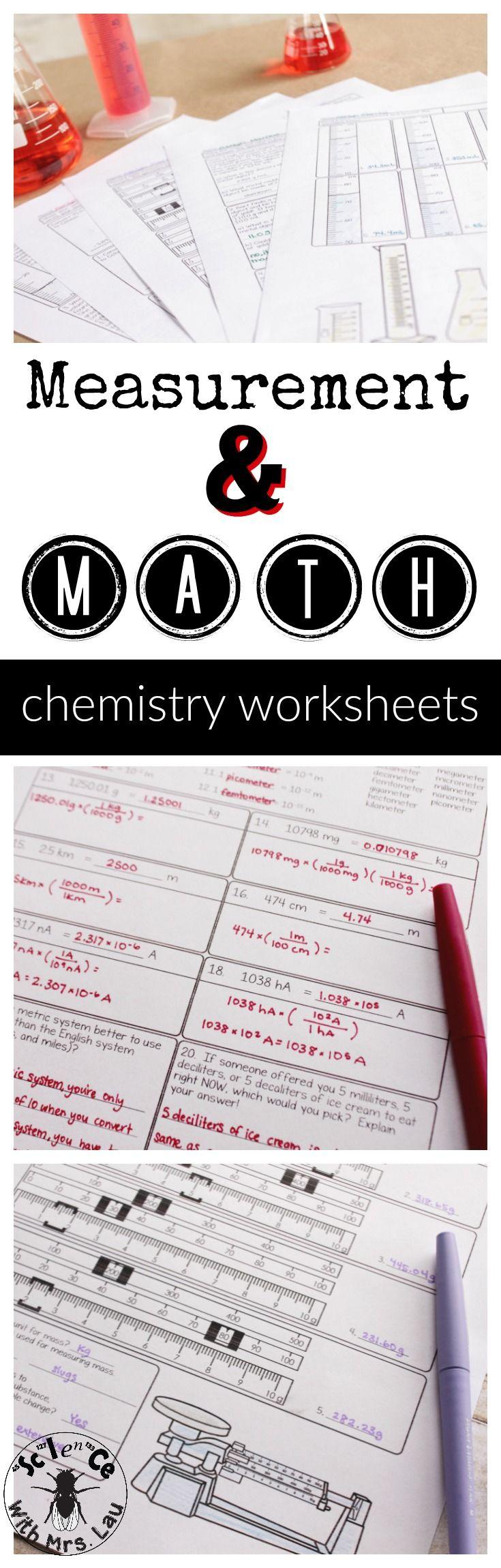 Measurement And Math For Chemistry Homework Unit Bundle Science