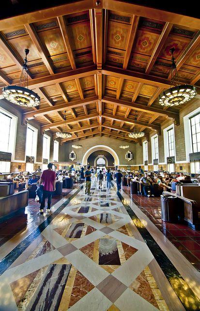 Union Station Los Angeles Interior Los Angeles Architecture Union Station Los Angeles