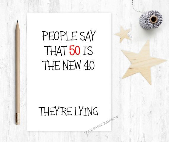 Funny 50th Birthday Card 50 Is The New