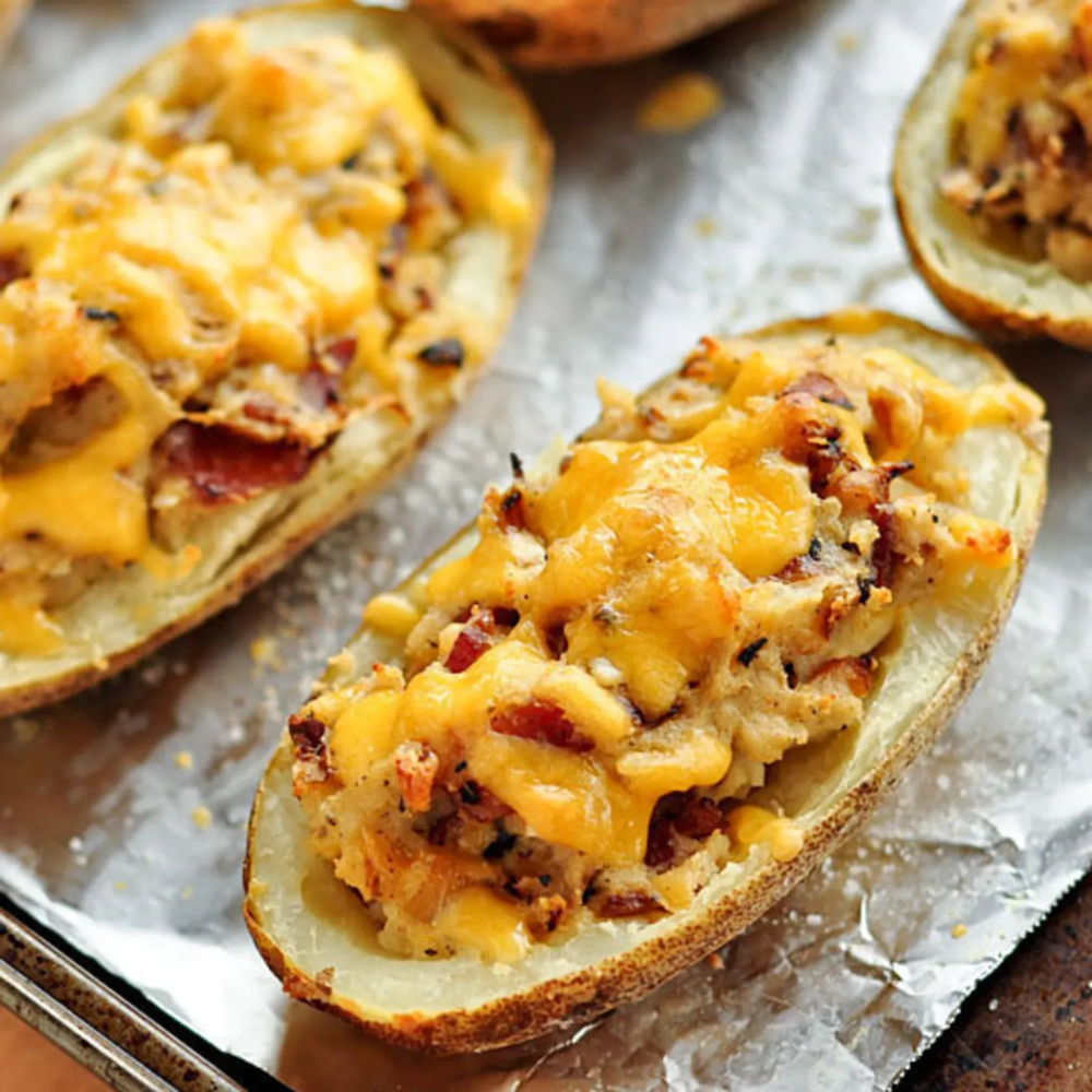 Bacon-Cheddar Twice Baked Potatoes