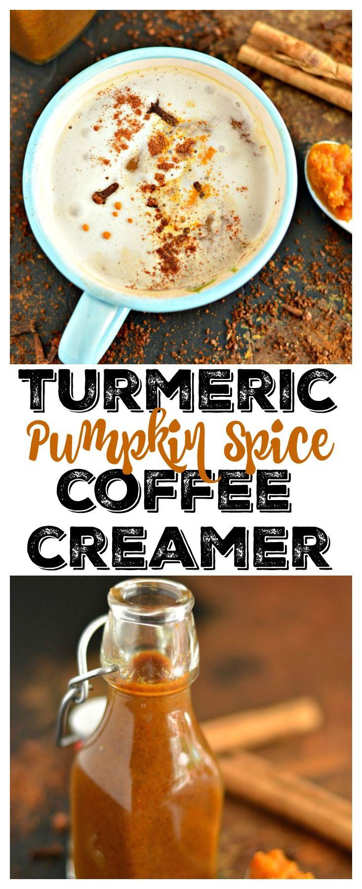 Homemade Turmeric Pumpkin Spice Coffee Syrup made with