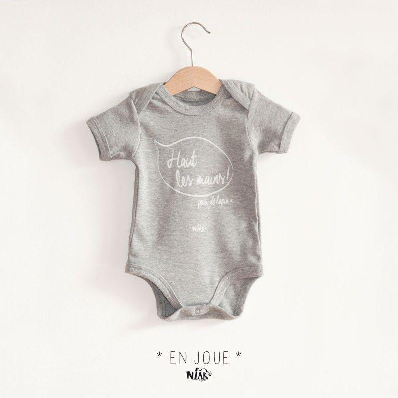 a7ddfe23fc61a Body bébé gris chiné