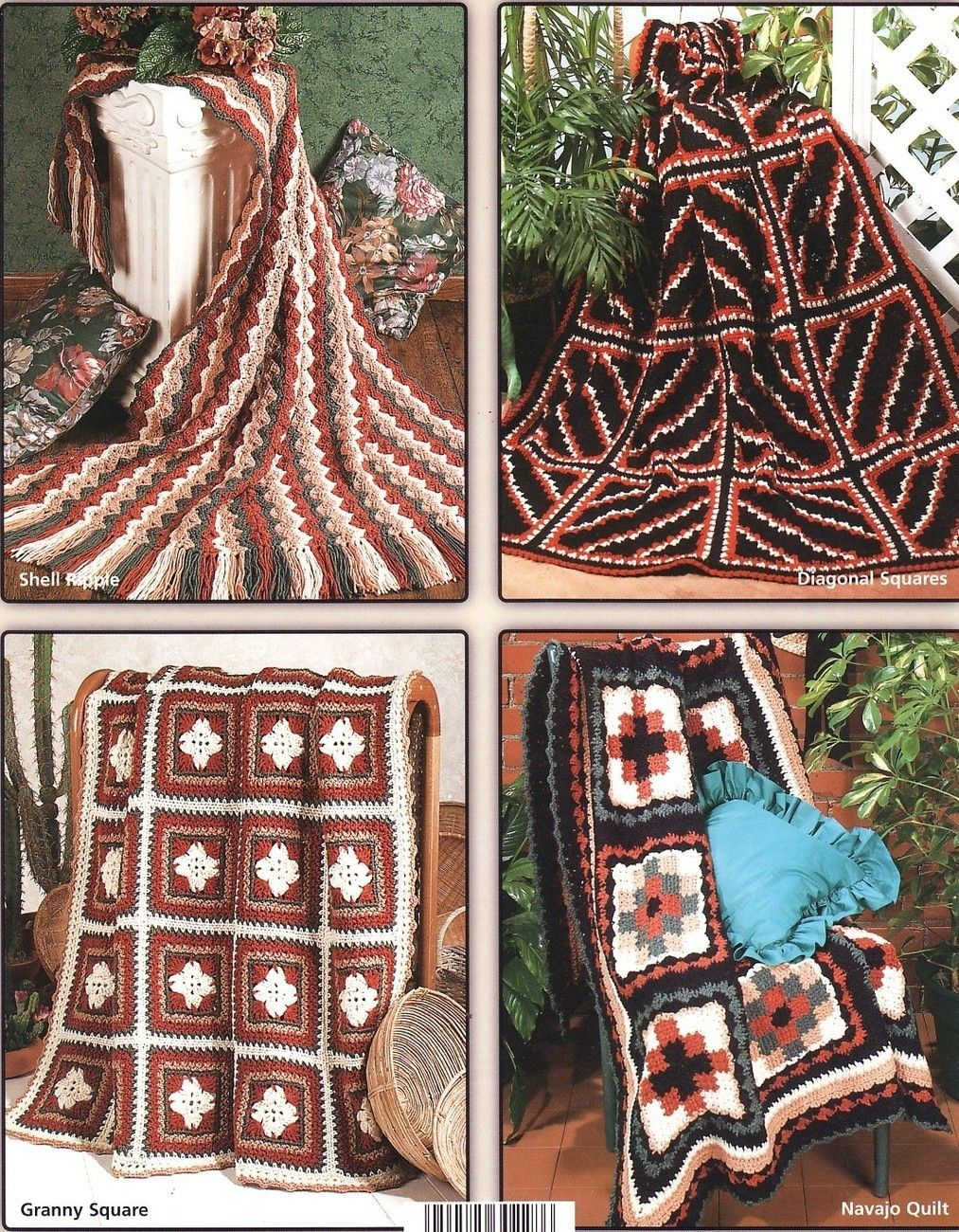 Navajo Afghans Crochet Patterns Book Indian Blankets 6 Southwest ...