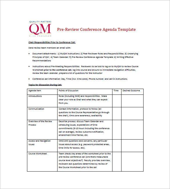 8 Simple Agenda Templates