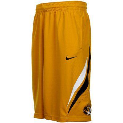 9527dc349 Nike Missouri Tigers Replica Basketball Shorts - Gold
