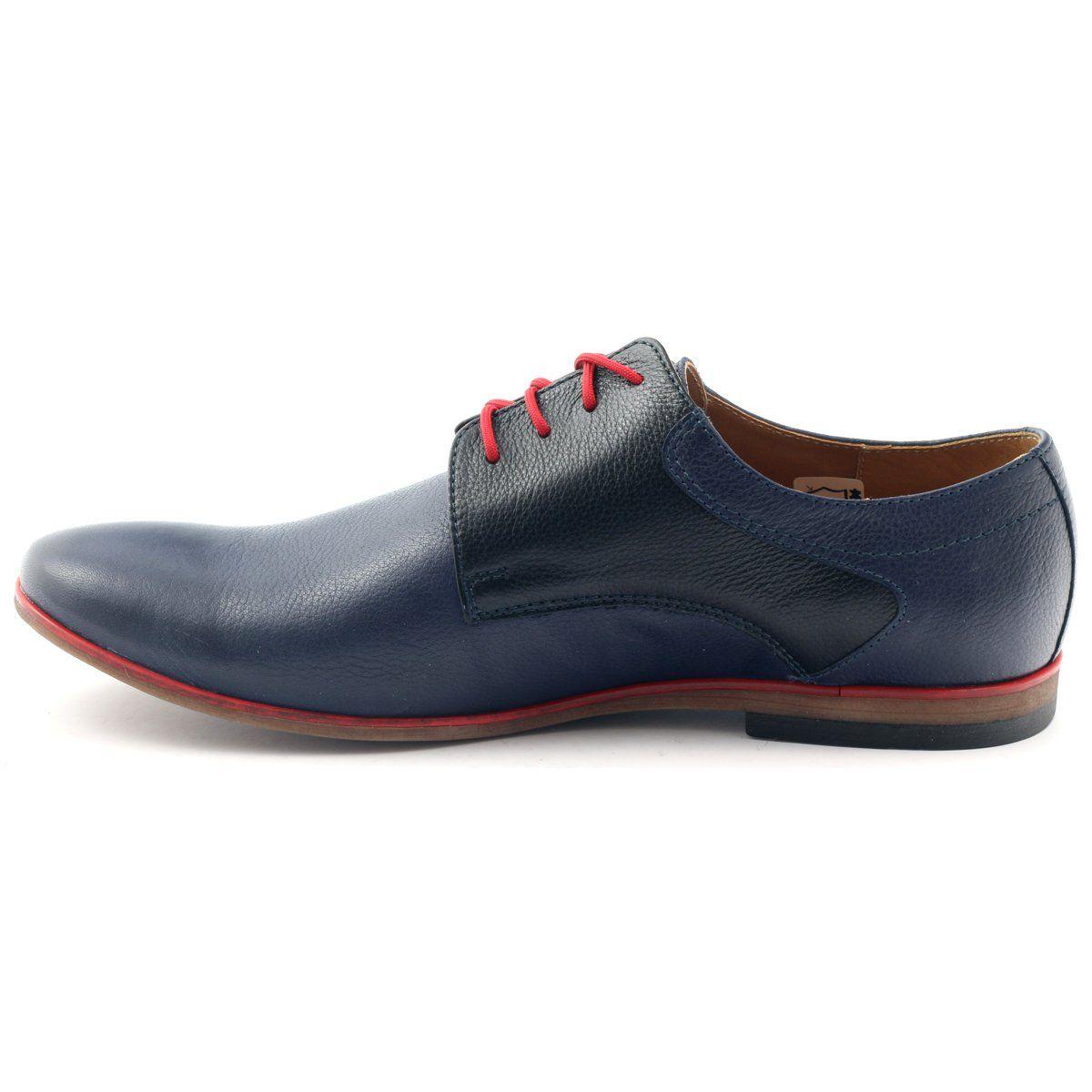 Polbuty Meskie Moskala H 5 Granatowe Czarne Czerwone Dress Shoes Men Dress Shoes Oxford Shoes