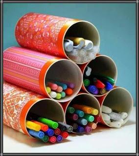 اعمال فنية يدوية حديثة اشغال يدوية بالكرتون اعمال اعادة تدوير سهله للاطفال بالصور بالخطوات سهلة بالصناديق بالاشياء القد Craft Room Craft Storage Marker Storage