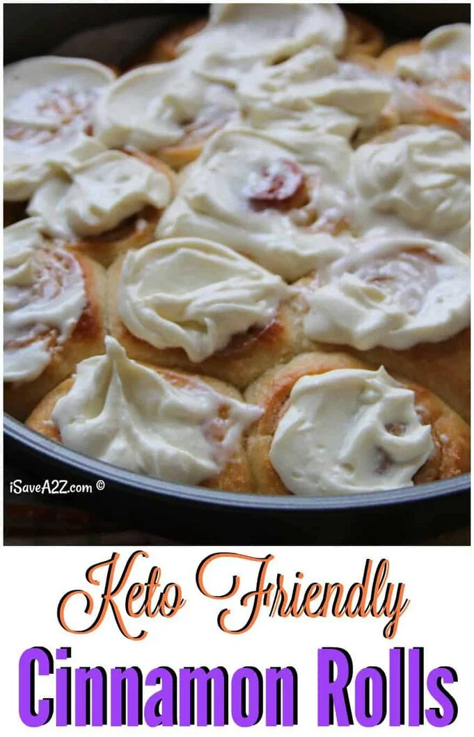 Low Carb and Made with Cream Cheese Frosting