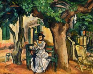 A Woman on the Terrace - Achille Emile-Othon Friesz - The Athenaeum
