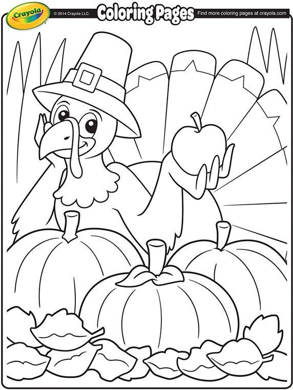 Thanksgiving Turkey Cartoon On Crayola Com Fall Coloring Pages Turkey Coloring Pages Thanksgiving Coloring Sheets