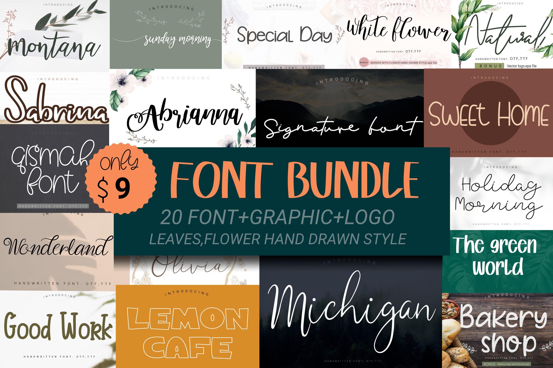 Download Font Bundle (Bundle) · Creative Fabrica in 2020 | Font ...