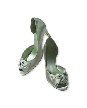 Green heels, Wedding shoes