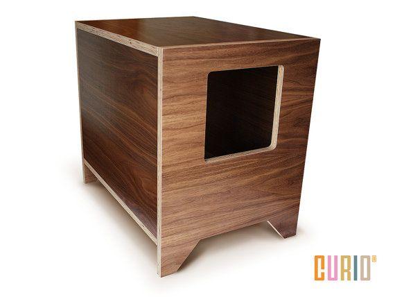 Curio Modern Litter Box Solution Litter Liner Included Cat Etsy Modern Cat Furniture Modern Pet Furniture Cat Litter Box
