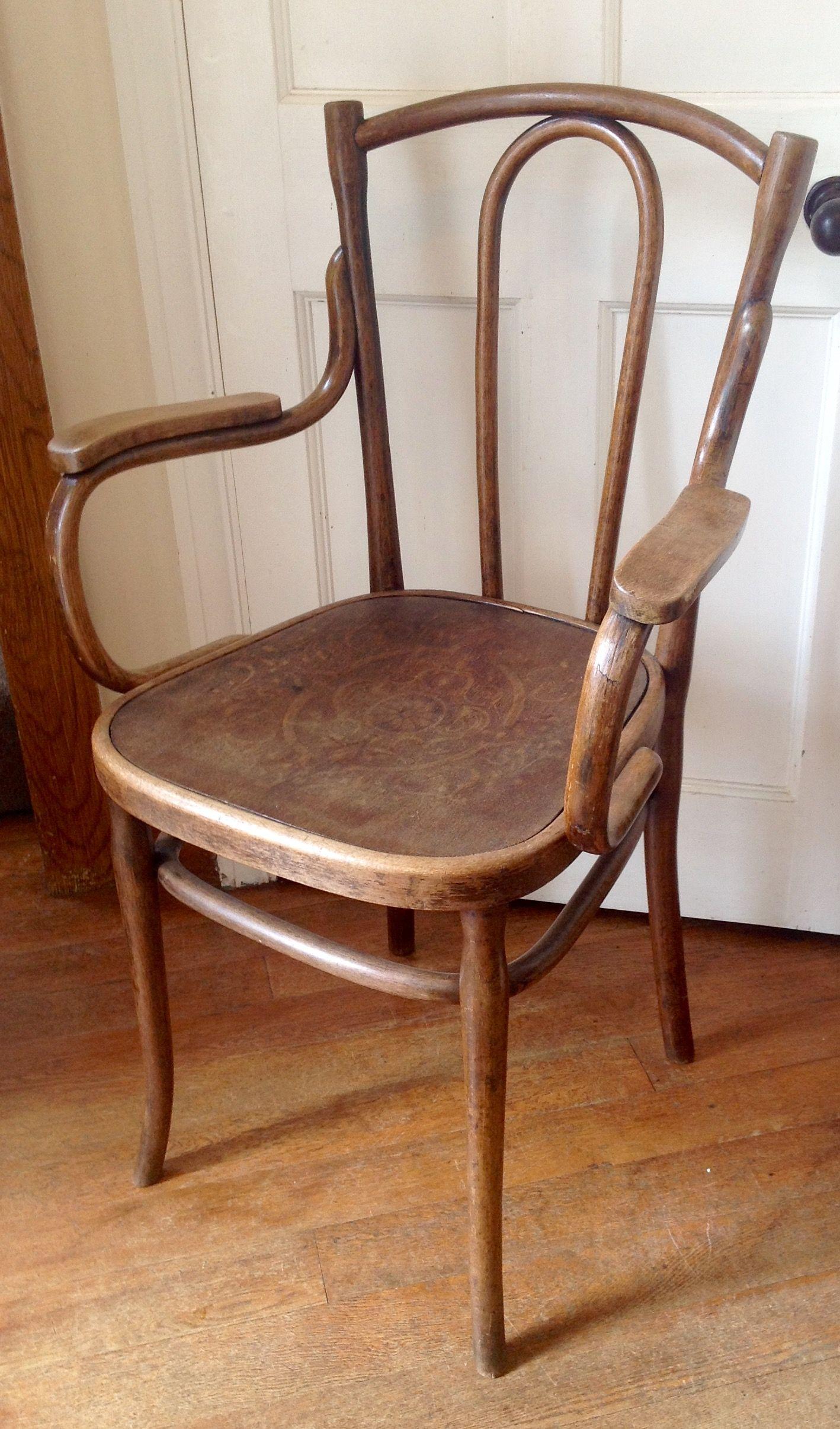 Great Antique Austrian Bentwood Chair. Circa 1890. Sold