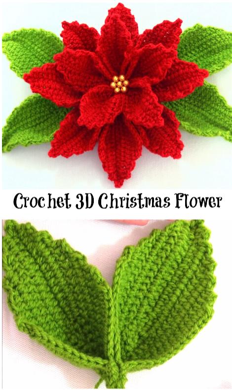Christmas Flower Croch Pinterest Flower Crochet And Crochet